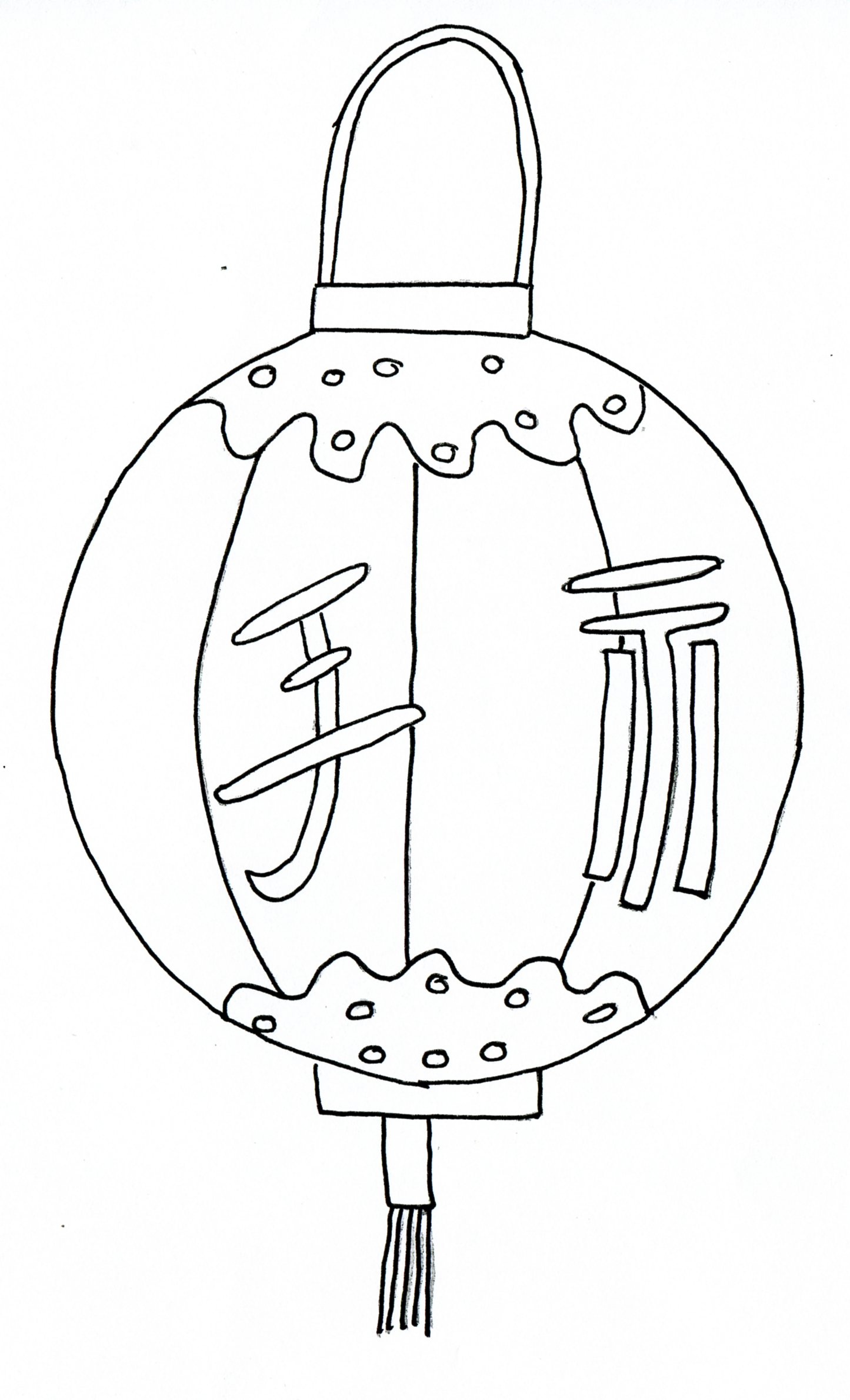 Line Drawing Year : Chinese paper lantern coloring pages