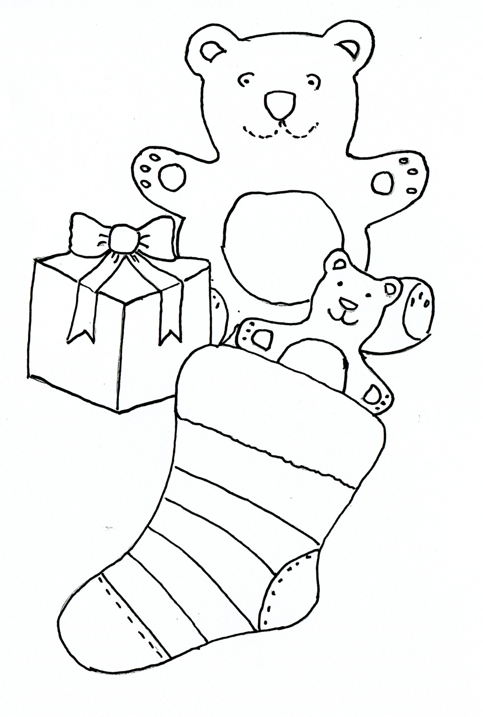 Christmas Pencil Drawings Stocking