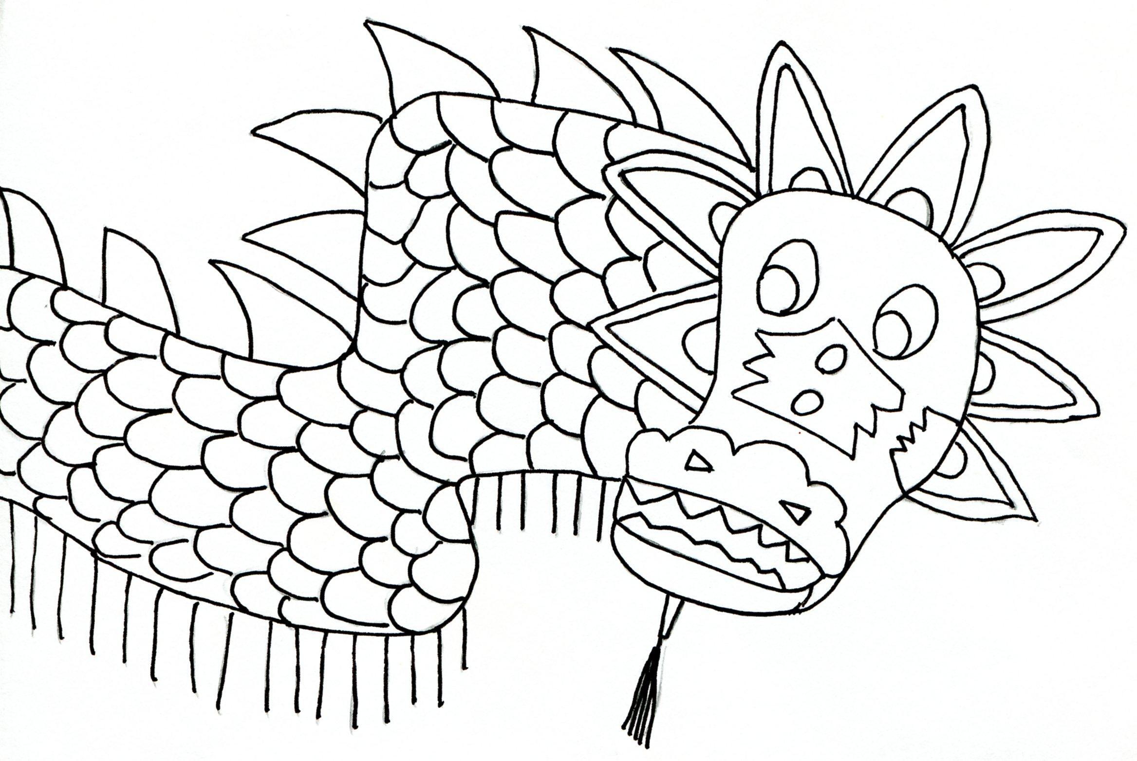 Dragon Drawing Template - jeppefm.tk