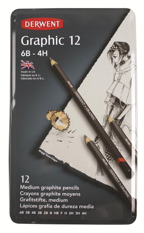 Graphic Medium Pencils 12 Tin