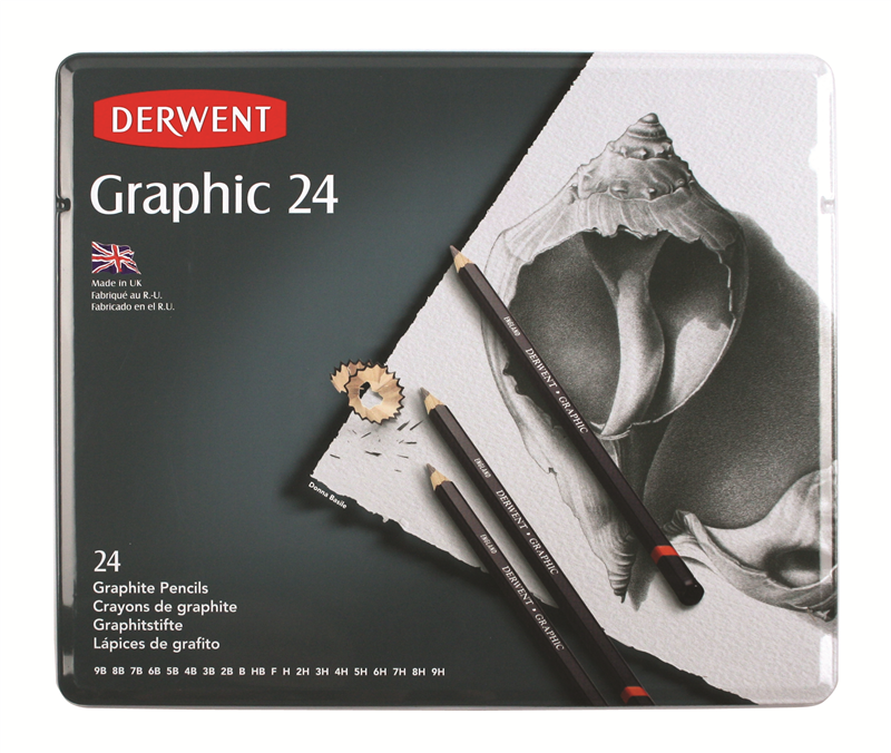 Graphic Pencils 24 Tin